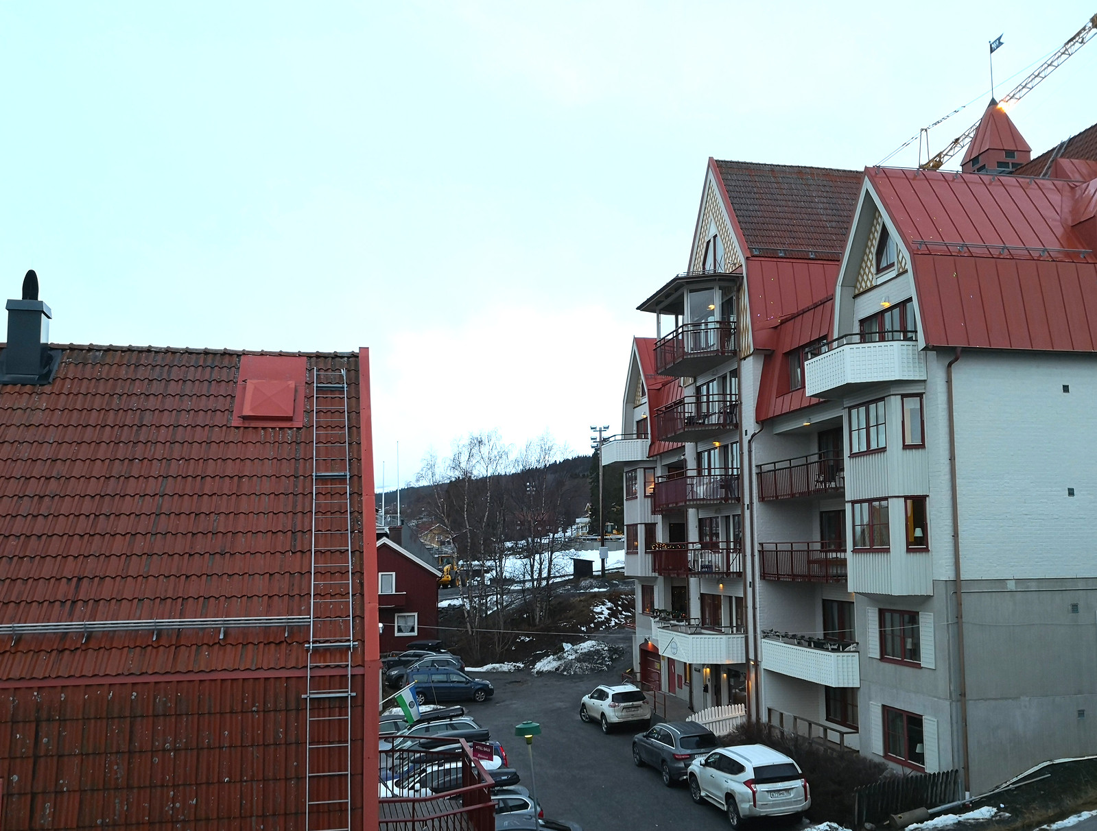 Apartments in the village