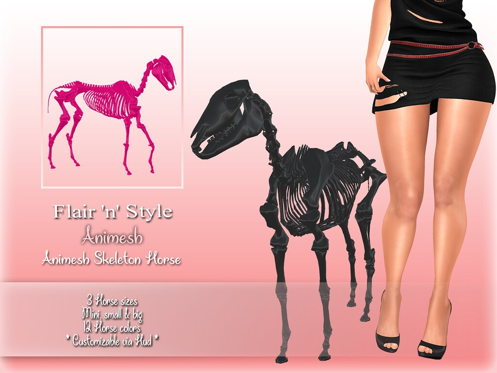 {Flair 'n' Style} Animesh Skeleton Horse