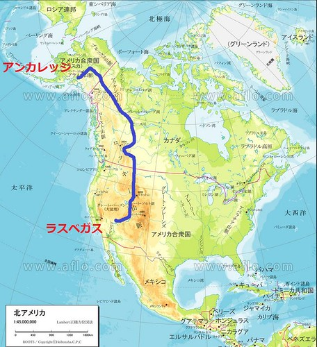 北米地図Plan