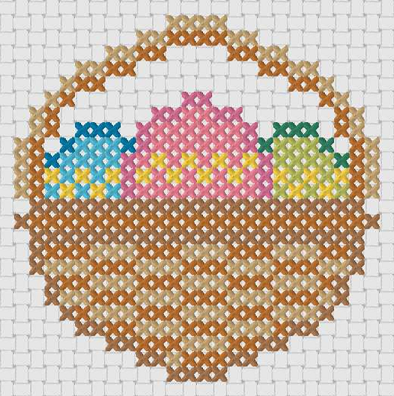 Preview of Free printable Easter cross stitch patterns: Mini Easter Eggs