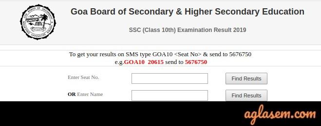 Goa SSC Name Wise