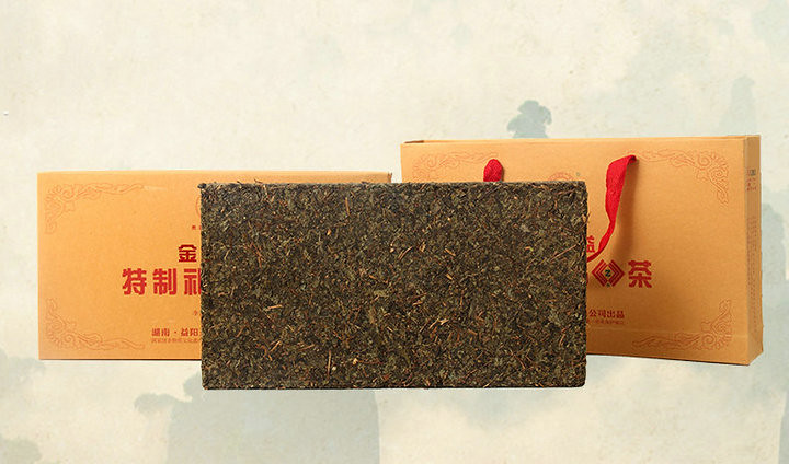 "2015 XiangYi ""Te Zhi Li Pin Cha"" (Specially Made Gift Tea) Brick 2000g Dark Tea Hunan"