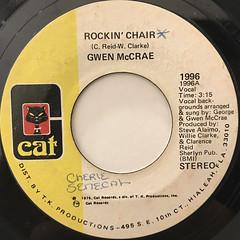 GWEN MCCRAE:ROCKIN' CHAIR(LABEL SIDE-A)
