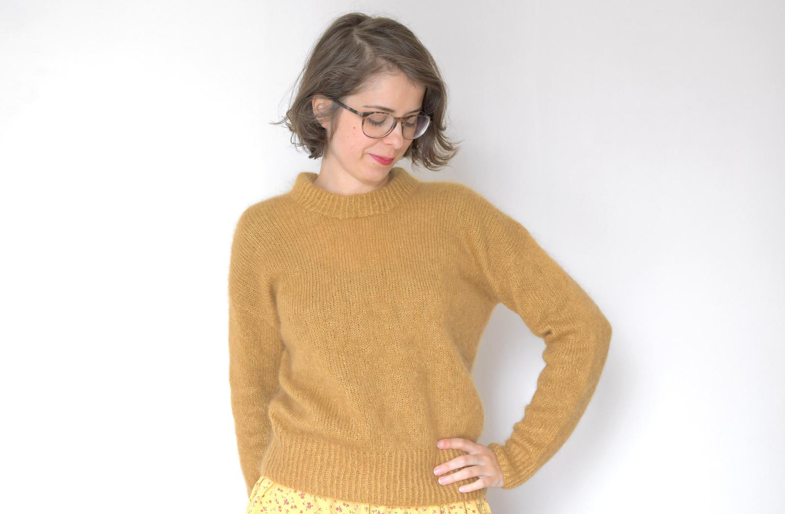 Mon Premier Pull Tricote En Rond Revue Du Patron Stockholm Sweater Les Yeux En Amande