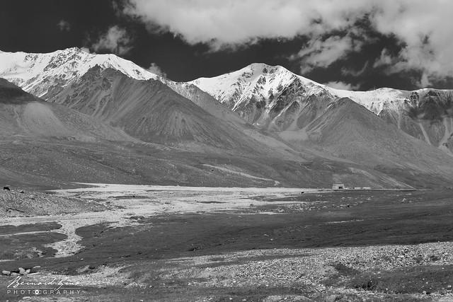 Prairie alpine au col de Kunjerab (4 693 m) sur la Karakoram Highway, Photo Bernard Grua