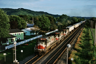 LMX 8502 west in LaCrosse, Wisconsin on August 26, 1992.