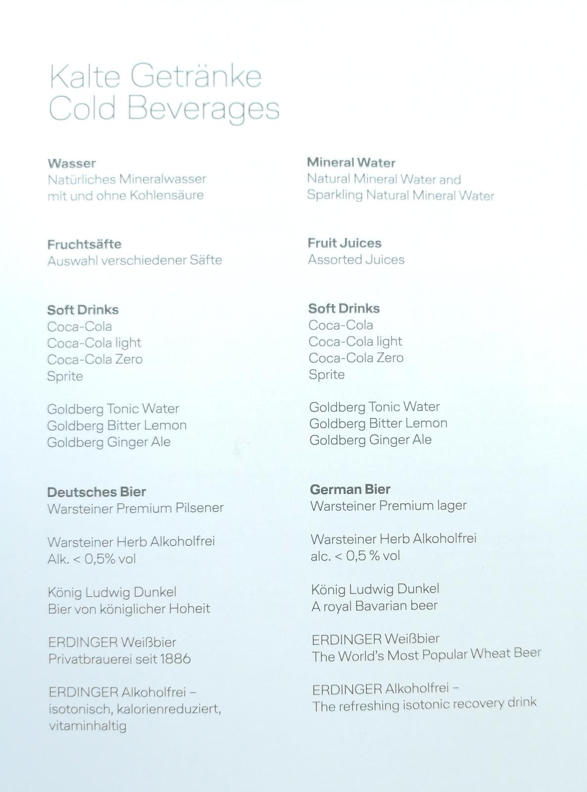 Cold beverages