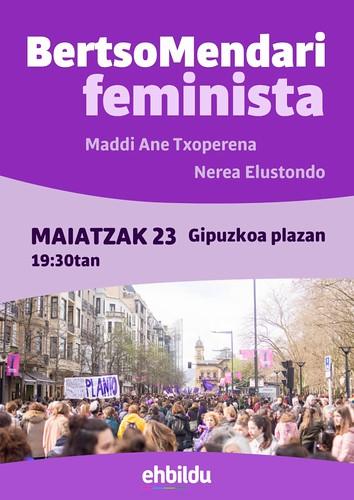 BertsoMendari feminista Hondarribia