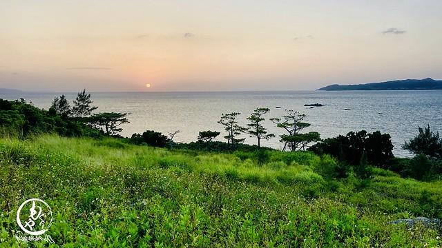 昨日の夕陽が素敵でした♪ 空梅雨が続く石垣島です!