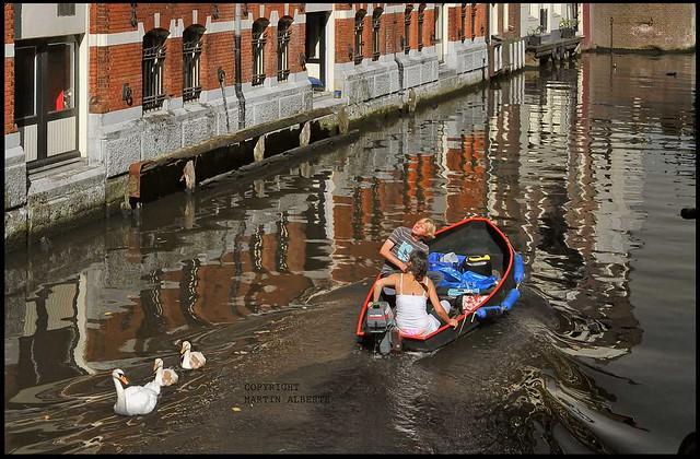 A love boat in Amsterdam....