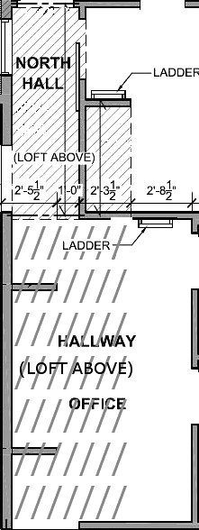 Hallway Loft Ladder