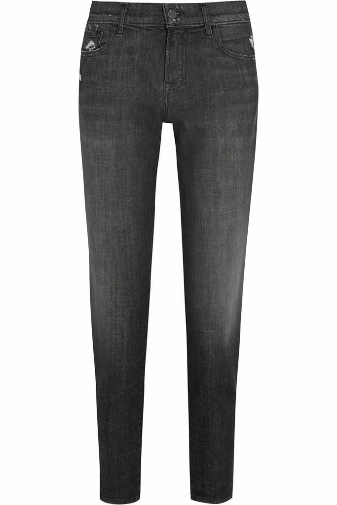 J BRAND Damen Sadey JB000405 Jeans Slim Errant Grau Größe 31W