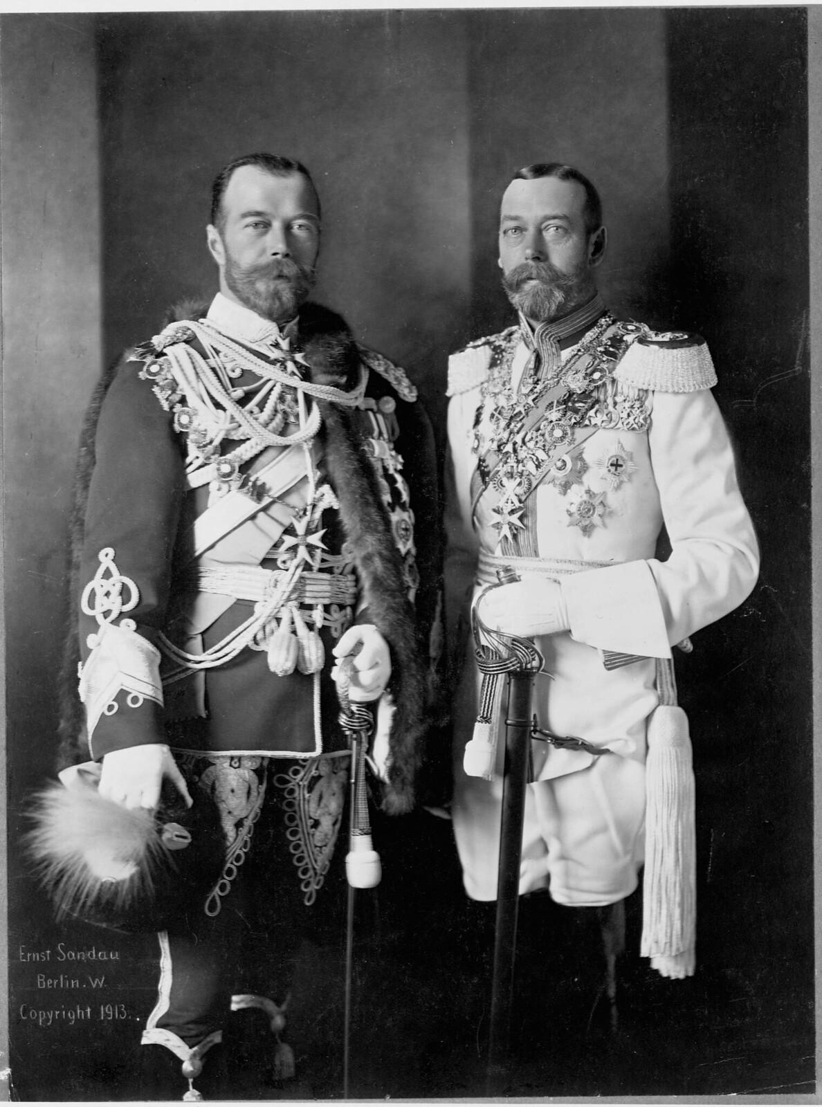 1913. Георг V и Николай II. Берлин