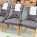 Ascot chair crushed fabric E130