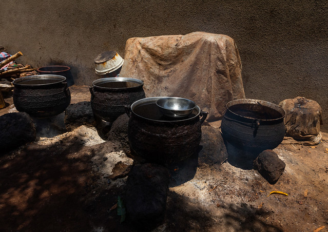Shea butter or karite factory, Savanes district, Tcheregnimin, Ivory Coast
