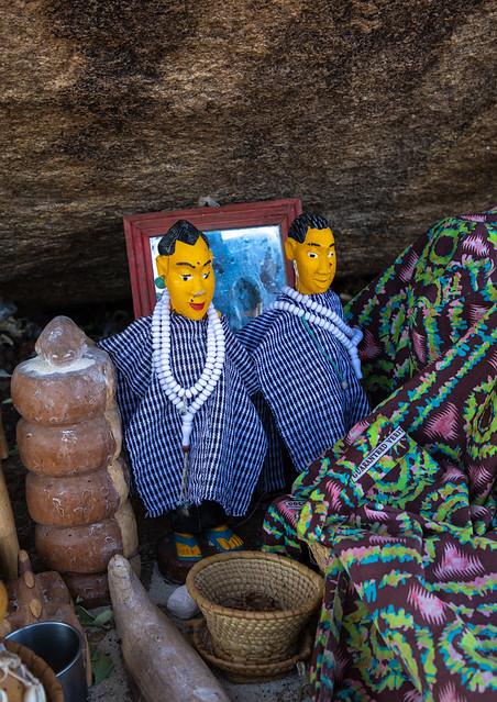 Senufo animist sanctuary where animal sacrifices are made, Savanes district, Shienlow, Ivory Coast