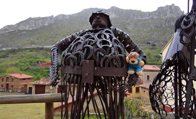 Leoncia con Sancho Panza de Pancorbo, Burgos, España.