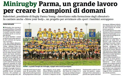 Gazzetta di Parma 22.05.19 - Minirugby