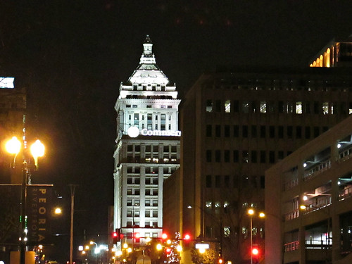 Commercial Bank at night