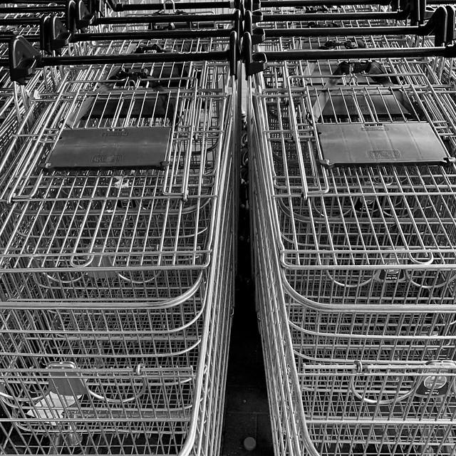 Supermarket trolleys