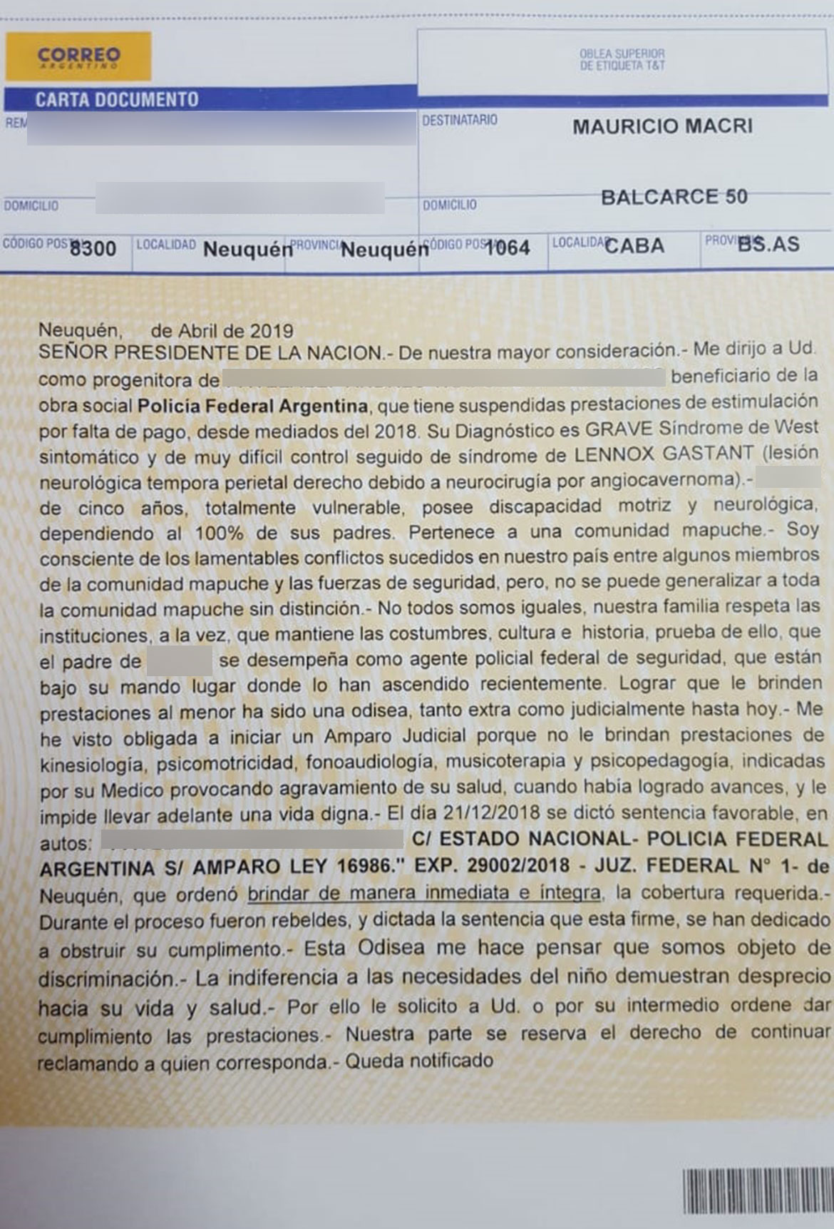 Carta-documento-a-Mauricio-Macri
