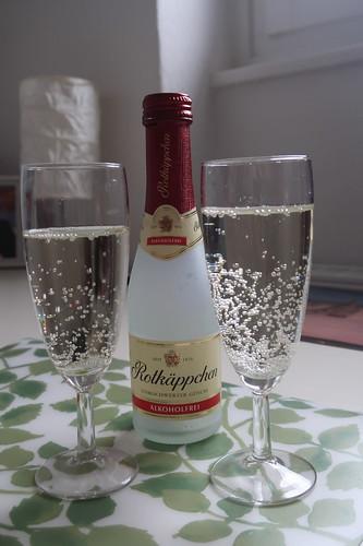 Alkoholfreier Rotkäppchen Sekt zur Begrüßung