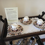 A tea tray and the story of the yacht, The Mistletoe, at Middleton Hall HHA