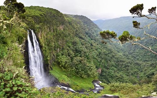 kenya waterfall gorge mountains landscape aberdarenationalpark stitchedpanorama