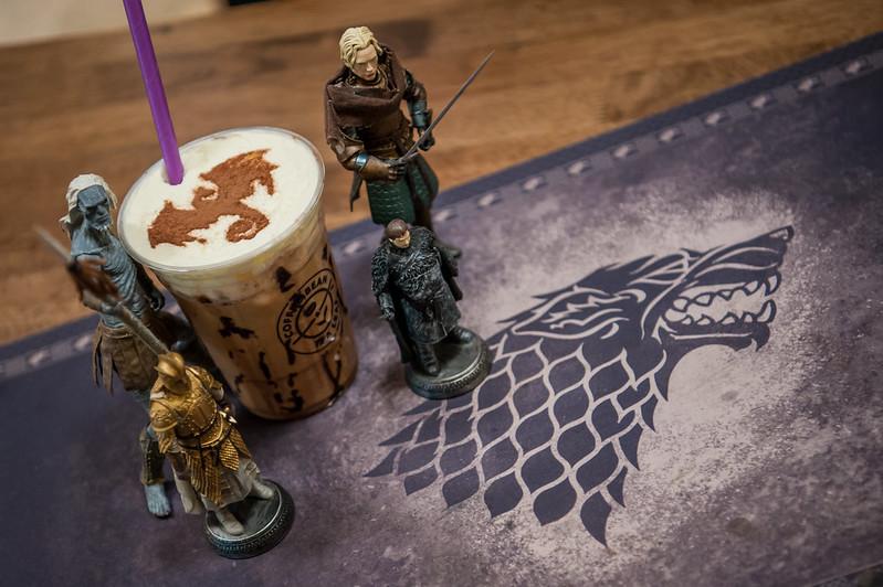 Kopi Espresso Cream Latte Bertemakan Game Of Thrones