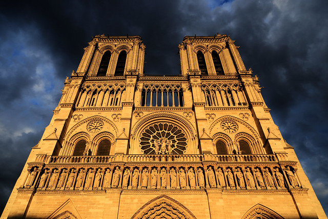 Notre-Dame de Paris in the late afternoon