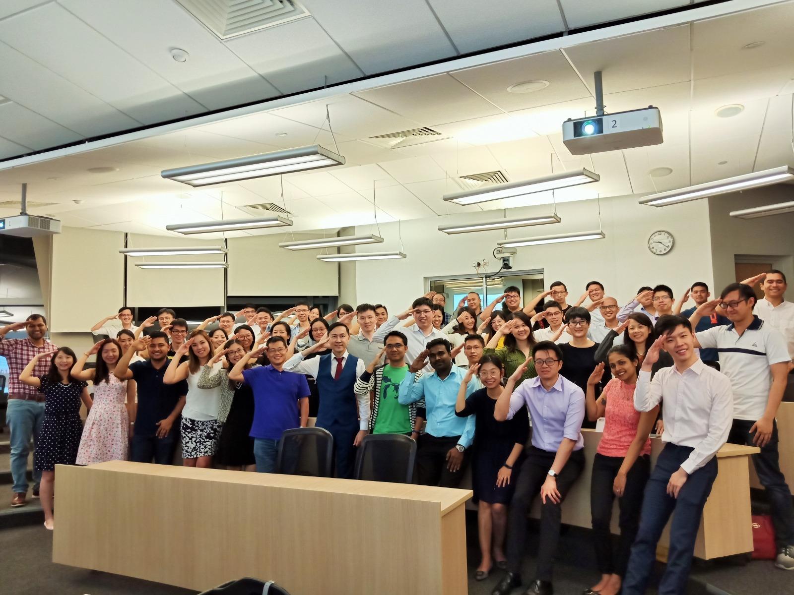 Group photo after final class