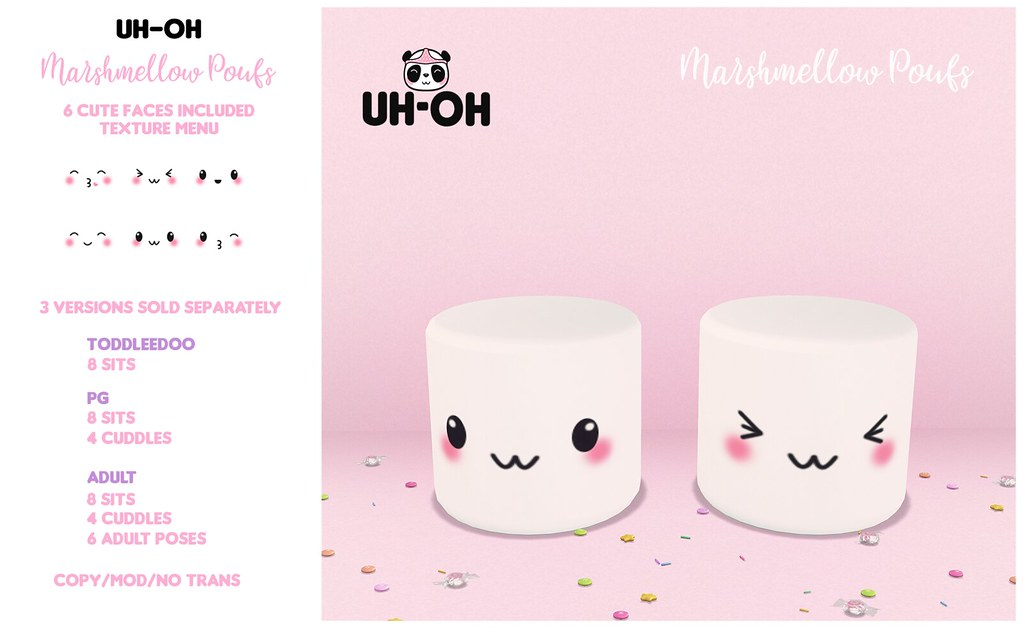 uh-oh: Marshmellow Poufs @ Mainstore