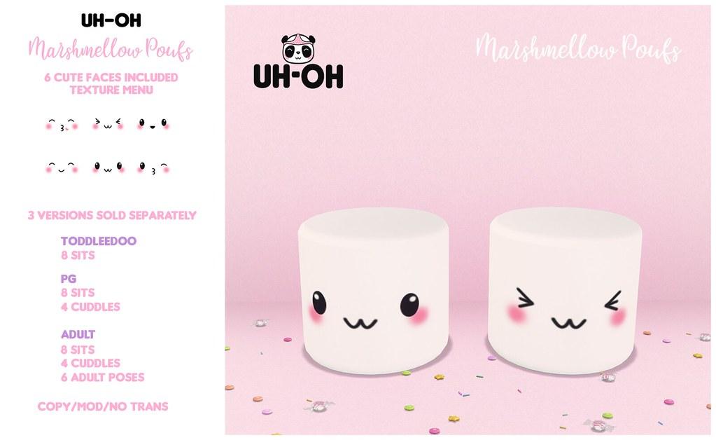 uh-oh: Marshmellow Poufs @ Mainstore - TeleportHub.com Live!