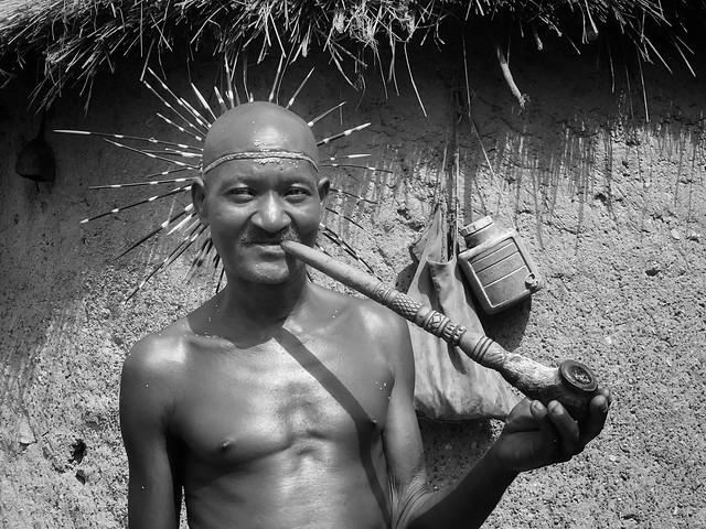 Mensajero taneka (Benín) - Fotografía en blanco y negro