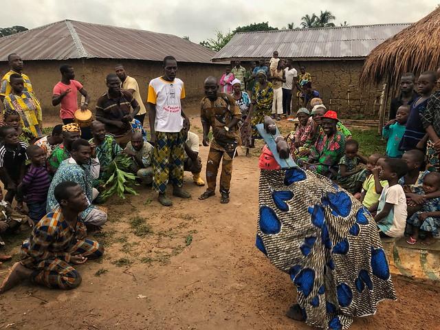 Mascarada gelede en Benín