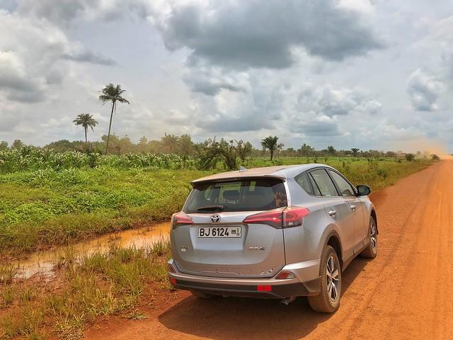 Con este vehículo nos movíamos por Benín