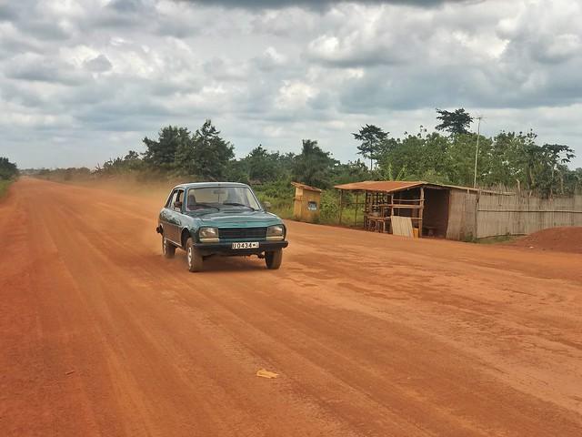 Carretera de tierra en Benín