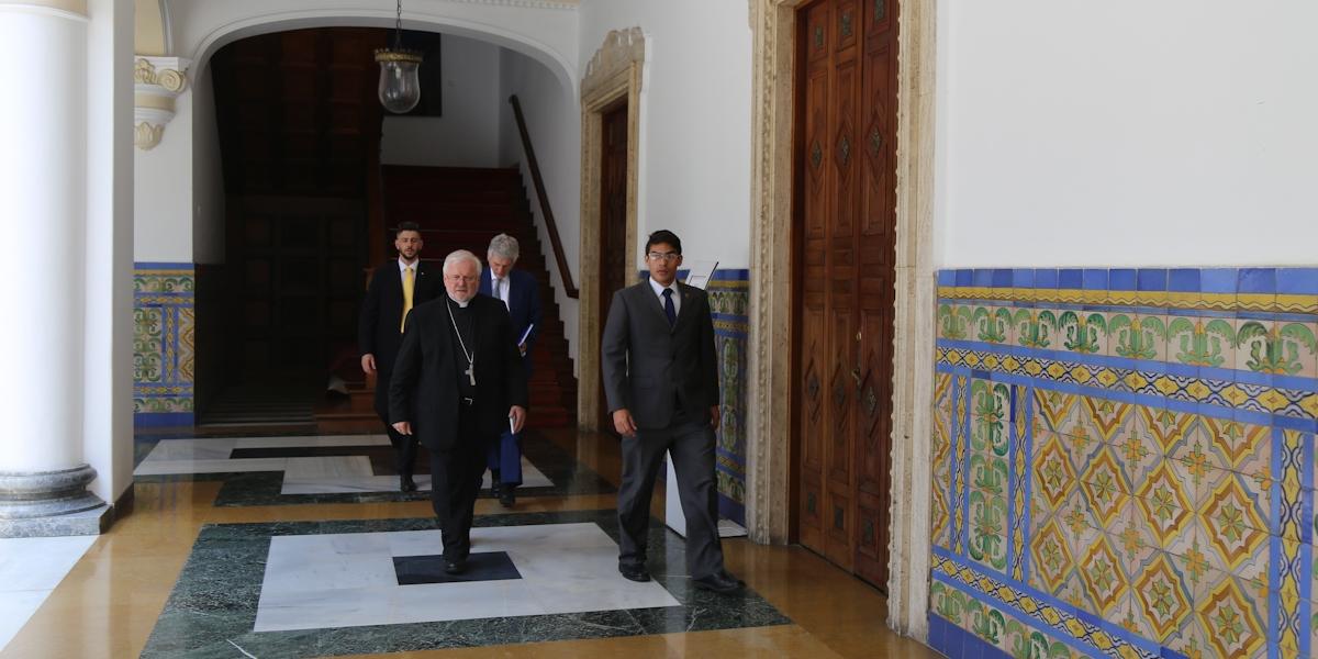 Canciller Arreaza sostiene encuentro con el Consejero Diplomático del Primer Ministro de Italia