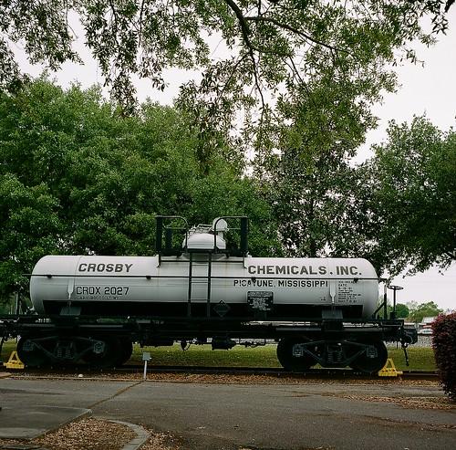 crosby chemicals tank car city park picayune mississippi usa rail roads history rolleicord va kodak porta 400