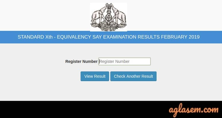Kerala 10th Equivalency Result February 2019