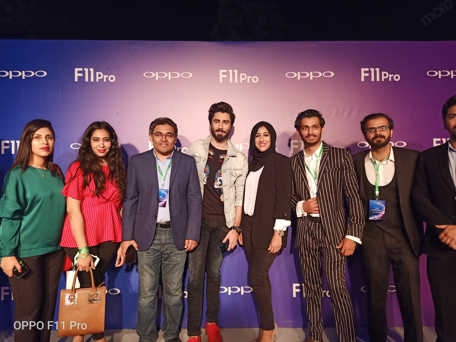 Oppo Team at the launch event of oppo f11 Pro