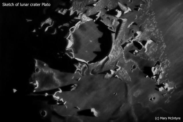 "Lunar Crater ""Plato"" Sketch"