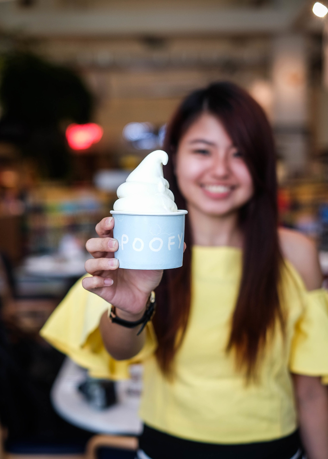 Hokkaido Milk Soft Serve in a cup at Habitat by Honestbee