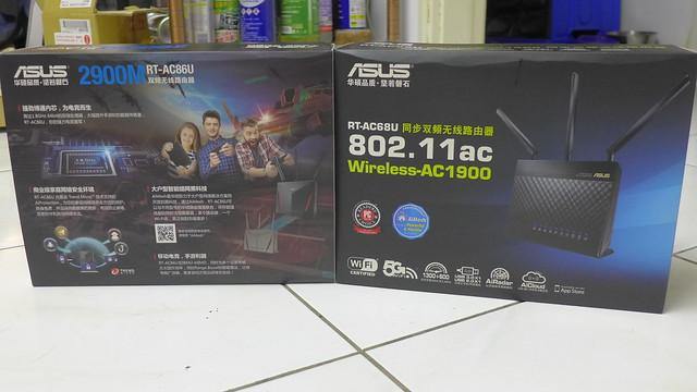 [簡單開箱] ASUS AC86U & AC68U 無線路由器