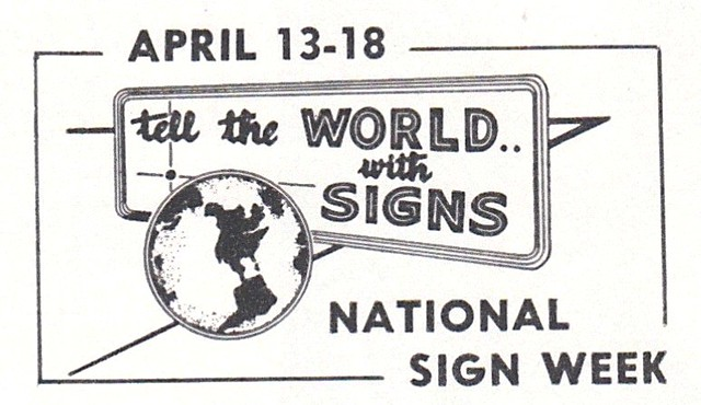 tell the world with signs national sign week 1959