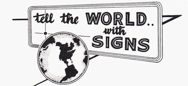 Tell the world with signs 1959