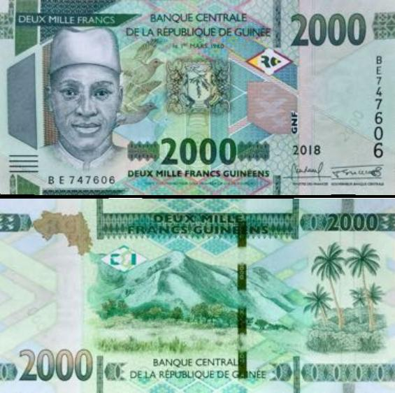 2000 Frankov Guinea 2018 (2019), new
