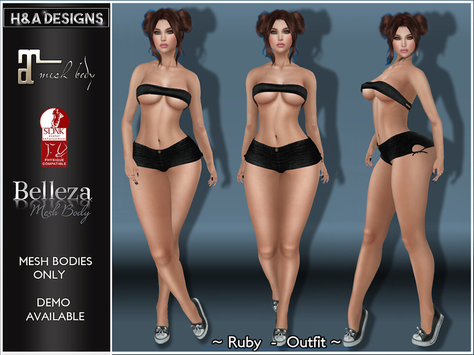 [H&A Designs]-Ruby Outfit Black