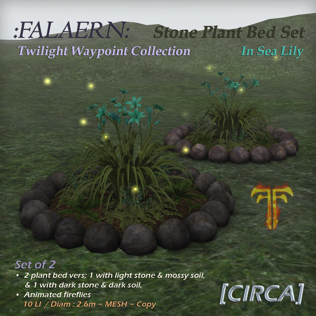 @ Fantasy Faire 2019 | [CIRCA] – :Falaern: Stone Plant Bed Set – In Sea Lily