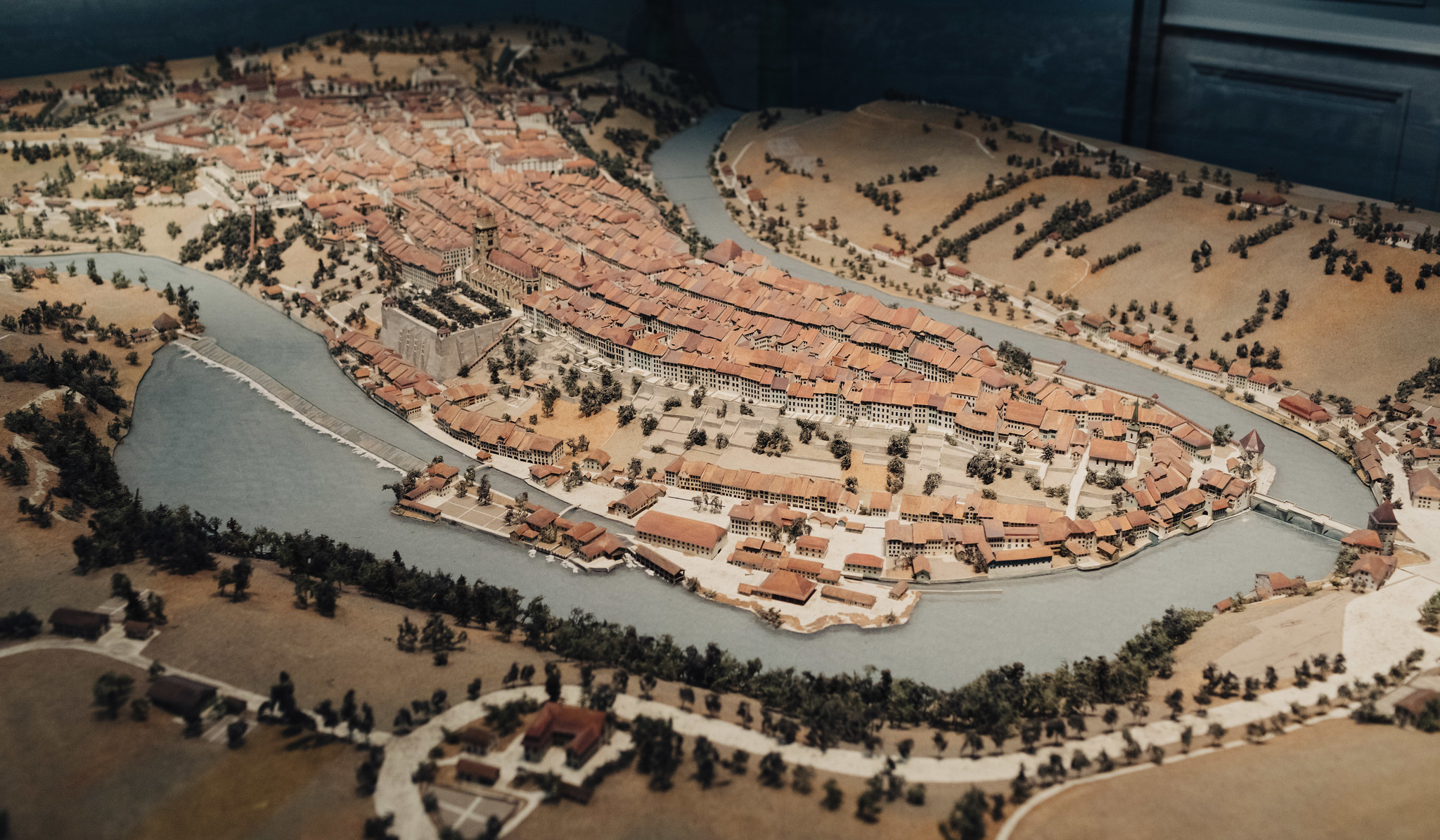Scale model of medieval Bern